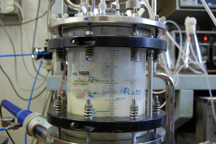 Detail of the bioreactor newMBR used by the research group Bioprocesses Control Laboratory