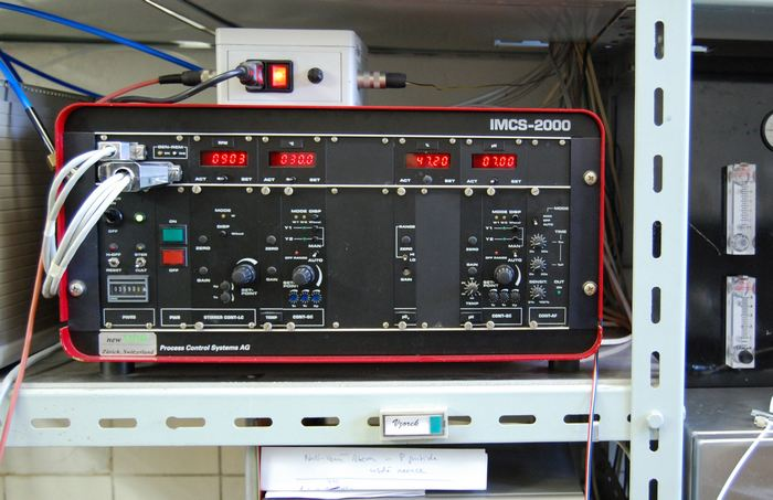 Analogue control unit IMCS 2000(PCS Process Control Systems AG, Swiss) for the process environment stabilisation